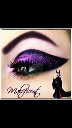 Love this makeup idea based on malificent!
