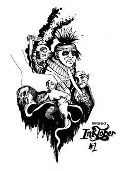 Inktober Day 1 #inktober #Inktober2014 #ink #monologish