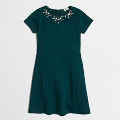 J.Crew Factory - Factory girls' short-sleeve necklace dress