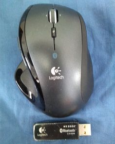 Logitech Cordless Desktop MX 5500 Revolution - Mouse Front