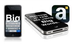 Em tempos de comunicadores online como o Twitter, GTalk, Whats App, e outros, as mensagens passaram a ser menos pessoais e as vezes -pode acreditar - nadainstantâneas. Por mais rápidas que elas sejam entregues ao destinatário, não querdizerque ele vai ler naquele segundo. O aplicativo de iPhone/iPad Big Words veio para ajudar a agarrar a atenção rápida do destinatário. Ele é super simples e prático de usar, com um fundo preto e palavras enormes a pessoa consegue ler a mensagem de longe…