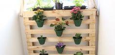 Aprenda a fazer um jardim vertical com paletes