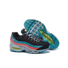 best service 4a54f 771d4 Mens Nike Air Max 95 Black Blue Orange Shoes Cheap Nike Running Shoes, Buy  Nike