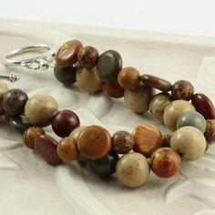 Jasper Bracelet Earth Tones Autumn Fashion #jewelry #fall @Peg Hewitt Hewitt Hewitt Stradling