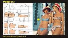 DIY sew a bandeau top Sewing Lingerie, Jolie Lingerie, Clothing Patterns, Dress Patterns, Sewing Patterns, Sewing Clothes, Diy Clothes, Bra Pattern, Underwear Pattern