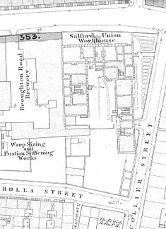 Salford Greengate workhouse site, 1848