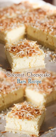 Coconut Cheesecake Bars Recipe Recipe Submitted bymaryjosh on02/06/2018 Rating: 0.00 0 votes