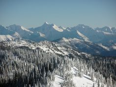 The Empire Builder Section Of The Whitefish Mountain Range In Montana