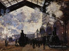 Claude Monet The Saint-lazare Station oil painting reproductions for sale