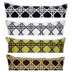 British Cane jacquard pillows