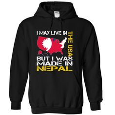 I May Live in the United States But I Was Made in Nepal Yellow T-Shirts, Hoodies. Get It Now ==► https://www.sunfrog.com/States/I-May-Live-in-the-United-States-But-I-Was-Made-in-Nepal-Yellow-wwpymnqswc-Black-Hoodie.html?41382