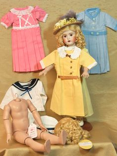 """18"""" """"Daisy"""" Clothing, GB14SA Compo Body, Mohair Wig For Sale"""