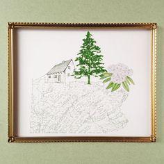PENNSYLVANIA State MAP 8x10 Art Print State by turnofthecenturies