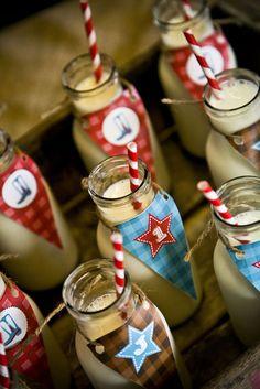 Ideia para festa infantil do Cowboy Muitas ideias para uma festa de aniversario rustica com tema fazenda, Cowboy... ...