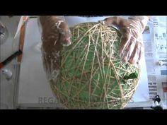 Como hacer lámpara de cuerdas (how to make string lamp)