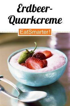 Clever naschen: Erdbeer-Quarkcreme - kalorienarm - schnelles Rezept - einfaches Gericht - So gesund ist das Rezept: 8,4/10 | Eine Rezeptidee von EAT SMARTER | Glutenfreies Frühstück, Mineralstoffreich, Ohne Alkohol, Ohne Ei, Vegetarisch, Vegetarisches Frühstück, Vegetarische Snacks, Vegetarische Desserts, Vitaminreich, Sommer, 10-Minuten-Rezepte, Günstige-Rezepte, Einfache, für 4 Personen, Süße, Schnelle Rezepte, Dessert, Erdbeerdessert, Obstdessert #erdbeerdessert #gesunderezepte Eat Smarter, Cantaloupe, Healthy Lifestyle, Cereal, Low Carb, Fruit, Breakfast, Food, Vegetarian Desserts