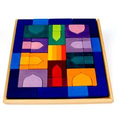 Recreate the world of 1001 Nights with this stunning set of building blocks by Grimm's.