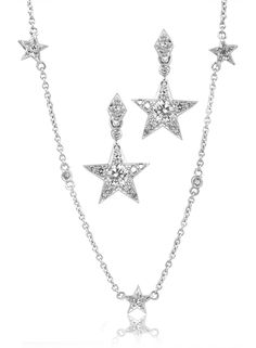 GALACIA DESIGNER JEWELLERY- Diamond star earrings.