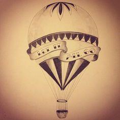 Pellmell Créations: Idées tattoo : les montgolfières