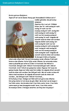 Knitting Dolls Clothes, Knitted Dolls, Doll Clothes Patterns, Clothing Patterns, Knit Slippers Free Pattern, Baby Booties Knitting Pattern, Baby Knitting Patterns, Baby Born Clothes, Baby Bjorn
