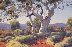 Warwick Fuller - Spinifex and Snappy Gum Australian Painting, Australian Artists, Landscape Art, Landscape Paintings, Seascape Paintings, Sheep Paintings, Long Painting, John Wilson, Royal Art
