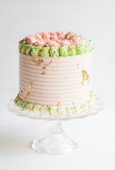Rhubarb Crisp Unicorn Cake + LAYERED Book Release!