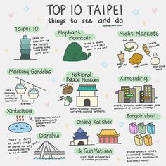 The top 10 things to do in Taipei Taiwan on your first visit // Taipei 101 Xiangshan/Elephant Mountain hiking trail Shilin Night Market Taipei 101, Taipei Taiwan, Stuff To Do, Things To Do, How To Memorize Things, Taiwan Itinerary, National Palace Museum, Photos Voyages, Mountain Hiking