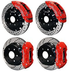 """NEW WILWOOD COMPLETE 16"""" FRONT & 14.25"""" REAR DISC BRAKE KIT WITH BRAKE LINES & FITTINGS, DRILLED ROTORS, BRAKE HATS, RED CALIPERS, PADS, FOR 1999-2013 CHEVY GMC CADILLAC TRUCKS SUVS THAT HAVE OE SINGLE PISTON REAR CALIPERS SILVERADO SIERRA SUBURBAN AVALANCHE 1500 TAHOE YUKON YUKON XL 1500 & ESCALADE Southwest Speed http://www.amazon.com/dp/B00W2M0QCG/ref=cm_sw_r_pi_dp_tyzmvb1CQB5TE"""