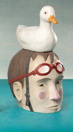 Clay illustrations by Irma Gruenholz, via Behance