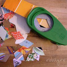 Make mini buntings for wedding invitations