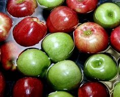 Bobbing for apples is always a winner at any party.