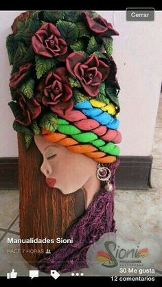 Art Bottle Idea for Art Show Glass Bottle Crafts, Bottle Art, African Crafts, African Art, Clay Crafts, Arts And Crafts, Clay Wall Art, Doll House Crafts, African Paintings