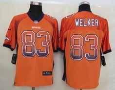 Men's NFL Denver Broncos #83 Welker Drift Fashion Orange