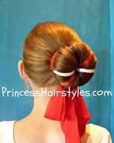 Hairstyles For Girls - Hair Styles - Braiding - Princess Hairstyles (cute buns for dance) Ballet Hairstyles, Princess Hairstyles, Little Girl Hairstyles, Bun Hairstyles, Pretty Hairstyles, Holiday Hairstyles, Updo Hairstyle, Softball Hair Braids, Softball Hairstyles
