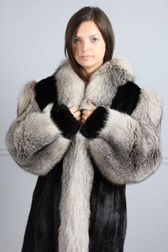 Mink Fox Fur Coat | Down Coat