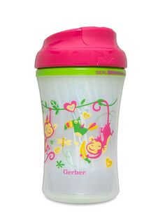 Advance Developmental Insulated Cup-Like Rim Cup | NUK - best sippy cups. Now to find girl patterns for the new baby.