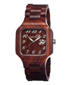 Look at this #zulilyfind! Red Testa Wood Bracelet Watch #zulilyfinds