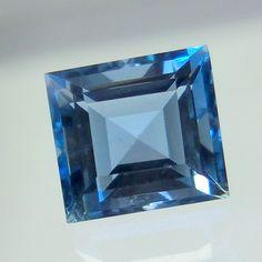 1.3 Cts 6.6x6.2 MM Top Natural Untreated AAA Aquamarine Cushion Shape Cut Stone #GemstonePioneer