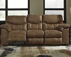 Ashley Furniture Boxberg Reclining Sofa 3380288 with Dual-sided recliner; middle seat remains stationary,Pull tab reclining motion,Corner-blocked frame with metal reinforced seat Ashley Sofa, Furniture Depot, Furniture Mattress, Power Reclining Loveseat, Power Recliners, At Home Store, Sofa Design, Adjustable Shelving, Seat Cushions