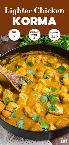Low Syn Lighter Indian Chicken Korma - ditch the heavy calories and syns for this amazing tasty authentic lighter version that doesn't compromise on flavour.