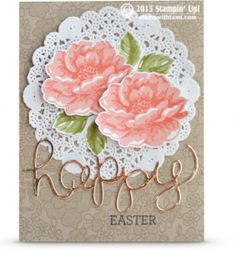 stippled blossoms stampin up easter