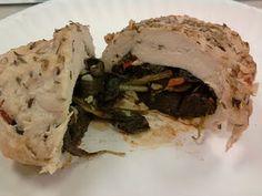 HCG Diet - P2 - Spinach and garlic stuffed Chicken.