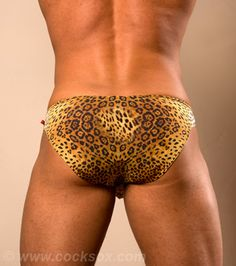 Leopard print mens swimwear from Cocksox®  http://www.cocksox.com/products/swim_brief_leopard#
