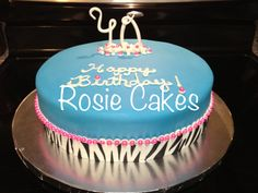 #zebra #40 #birthday #hotpink #teal #fondant check out this awesome birthday cake made the 40 with gumpaste :)