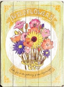 Wildflowers Vintage Sign
