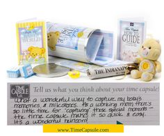 Baby Time Capsule is a great gift for baby showers. Unique, lasting gift. Get yours at www.timecapsule.com