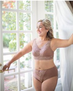 1bf7f133f9 Lace it up with the embrace bra   panty set NOW in mocha. American Breast  Care