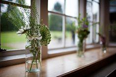Seasonal country wedding flowers
