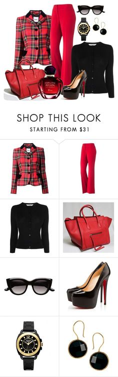 """""""Tomorrow!"""" by cristinacordeiro ❤ liked on Polyvore featuring Moschino, Apt. 9, L.K.Bennett, Witchery, Christian Louboutin, Coach, Ottoman Hands and Christian Dior"""