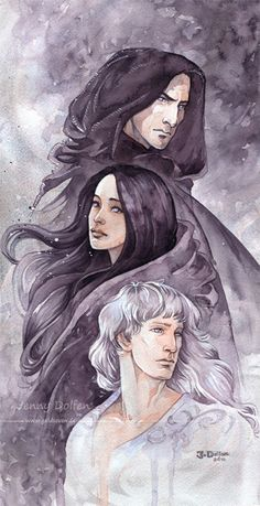 """acicueta: """" Masters of souls by Gold-Seven Námo and Irmo (better known as Mandos and Lórien), and their sister, Nienna, from Tolkien's Silmarillion """""""